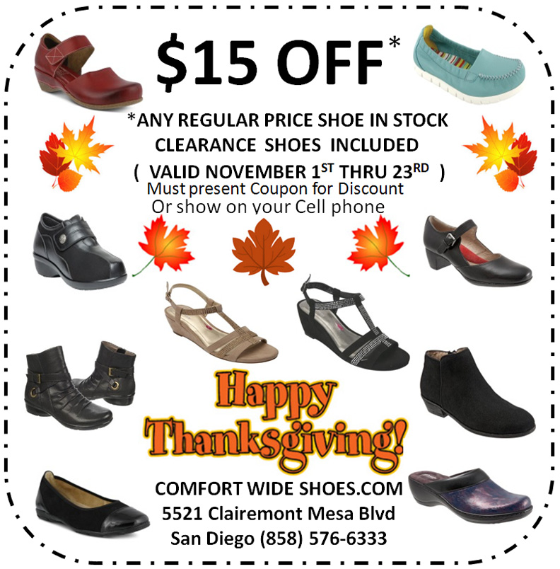 November Shoe Coupon